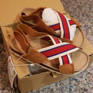 NWT Goegeous Leather Zara Sandals